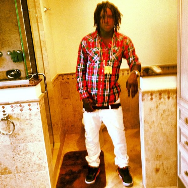 Chief Keef Wearing Jordan 3 Crimson On Feet amp Glory Boyz