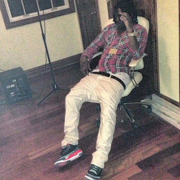 Chief Keef Wearing Jordan 3 Crimson On Feet amp Glory Boyz