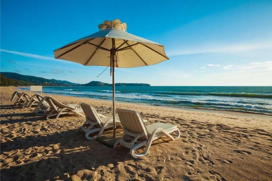 Low season beach holiday