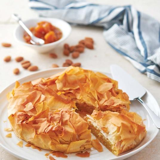 Almond Filo Pie