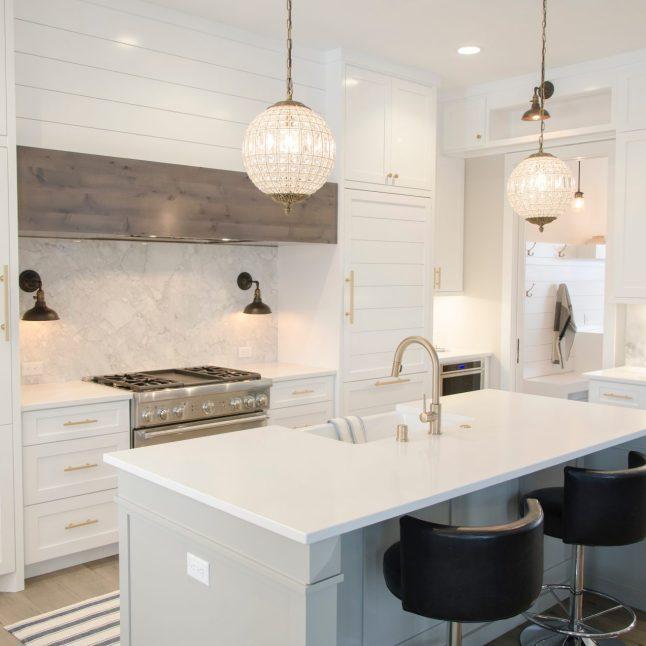 Gold and White Kitchen