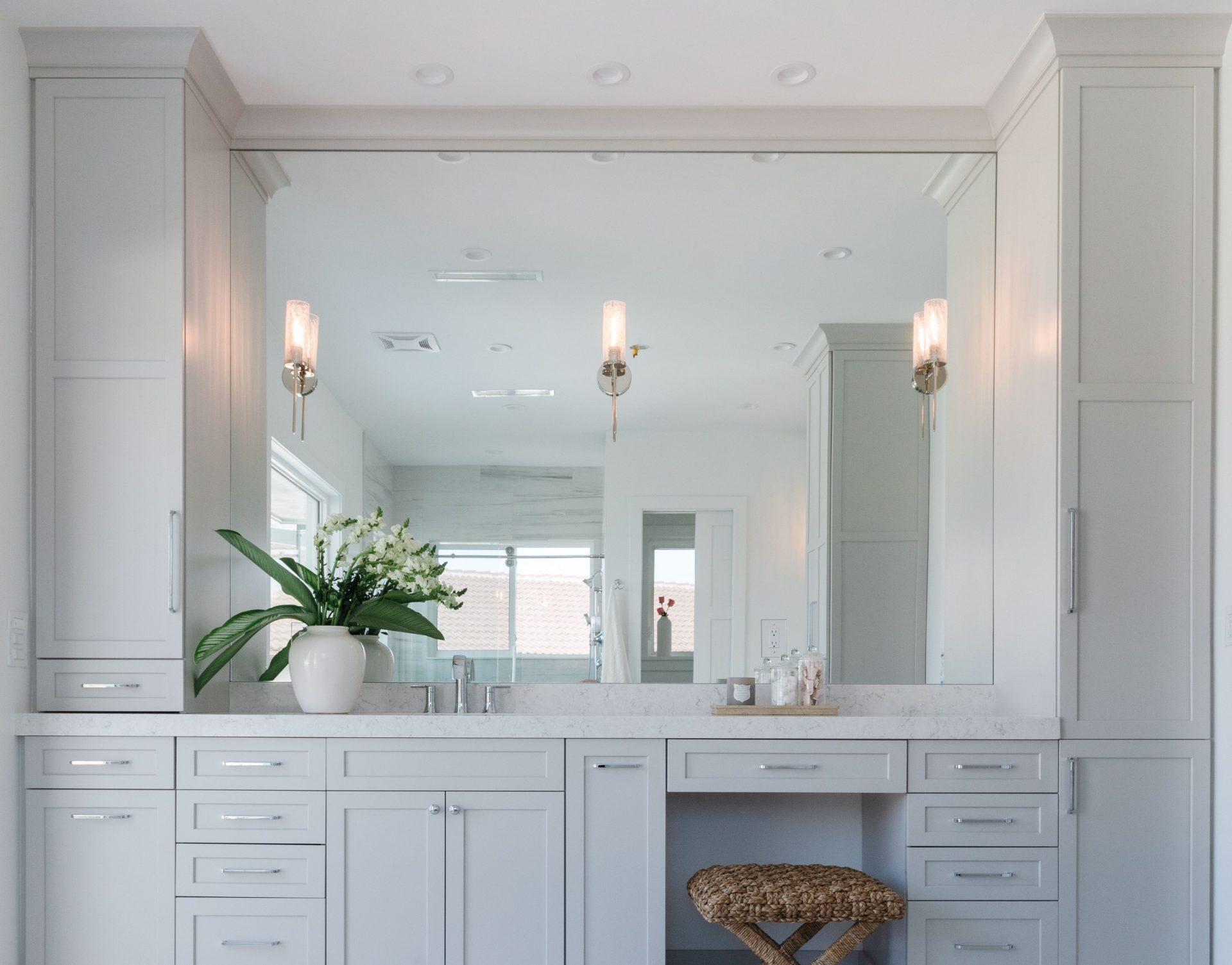 Peet's Perch | Master Bathroom Her Vanity