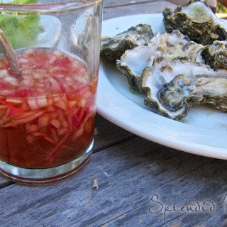 oyster, oyster, I've been thinking about mignonette sauce…