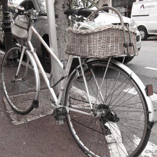 bicycles with baskets…..