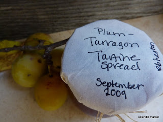 Plum Tarragon Tartine Spread
