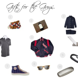 A Gift Guide for the guys in your life…