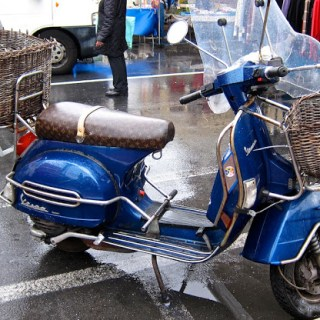 Vuitton Vespa love, Ventimiglia, Italy….