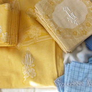 Sunshine and sea table linens…