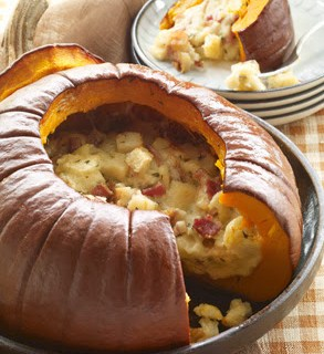 Pumpkin stuffed with everything good…