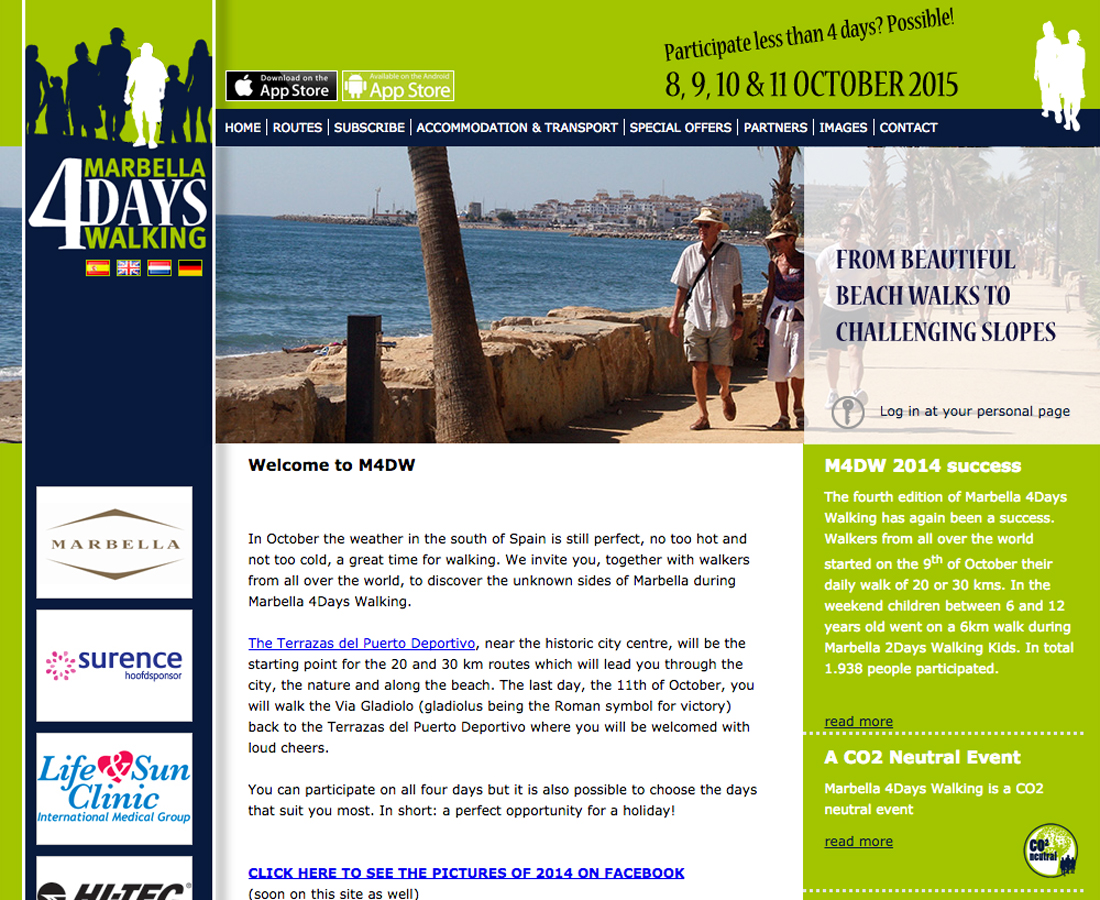 Splez Webdesign: Marbella 4 Days Walking
