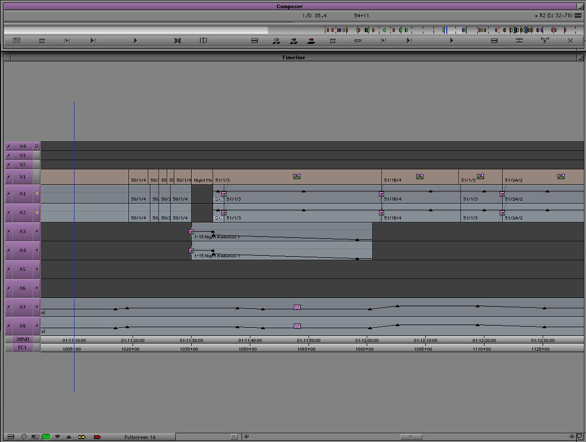 Full Screen Timeline