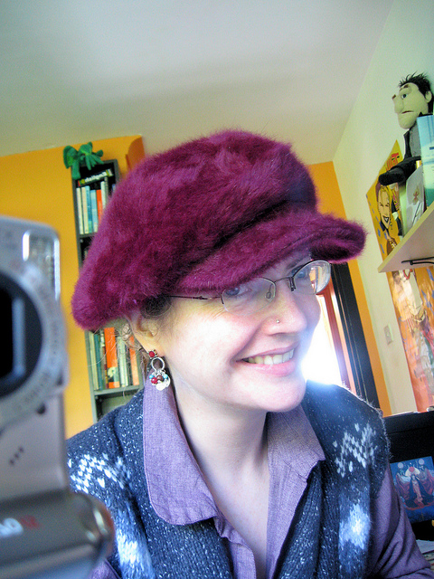 Me in my new fuax furry hat