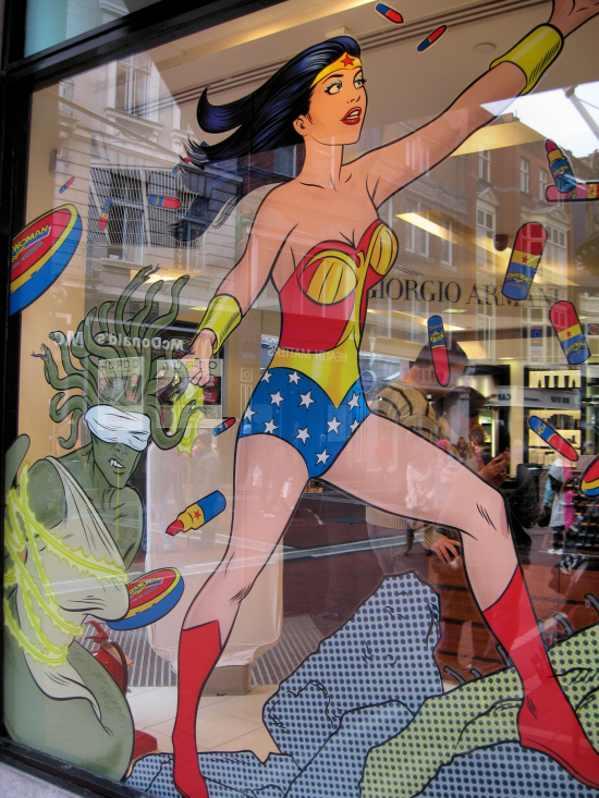 Wonder Woman saves cosmetics