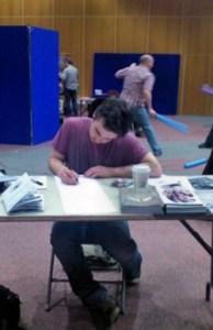 Stephen at work