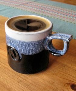espresso in Paul Maloney cup