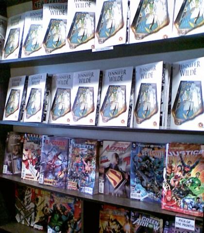 Jennifer Wilde issue 2 on the shelves of SubCity Comics in Dublin