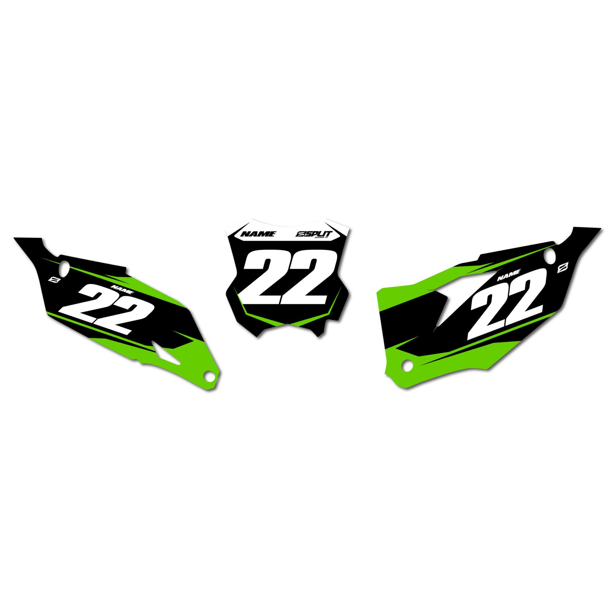 Kawasaki Splinter Number Boards Split Designs Co