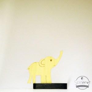 pyrografisch design olifant