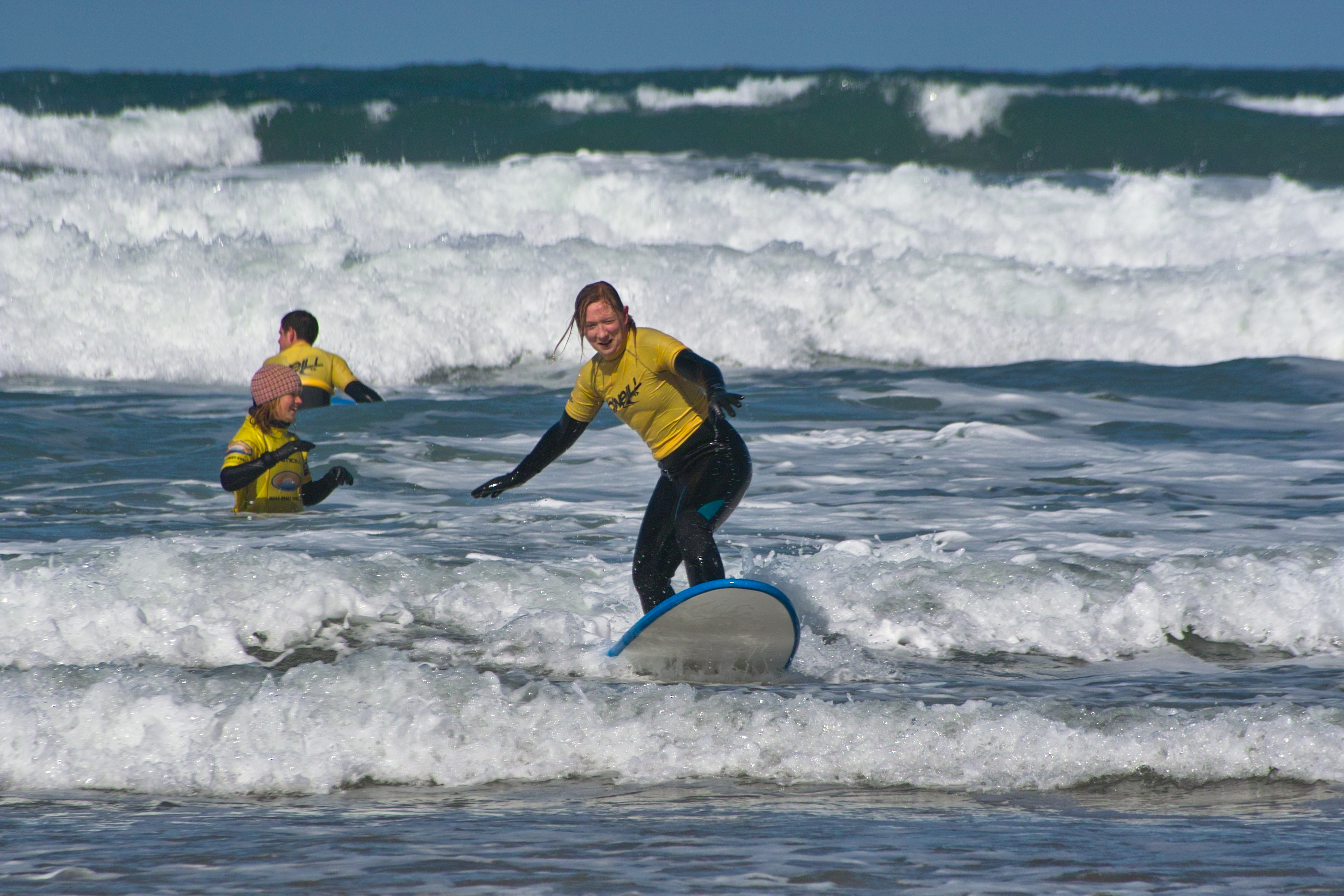 Surfing at Watergate Bay, Newquay