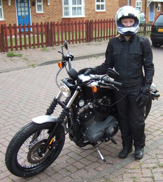Rode from John o'Groats to Land's End on a Harley Davidson Sportster Nightster for charity
