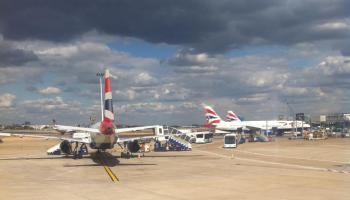 Landing at Heathrow Airport