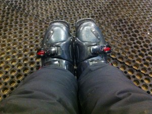 These boots are made for skiing