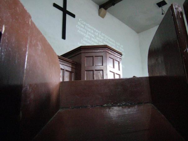 Lincon Castle Prison Chapel - view from a prisoner's cubicle