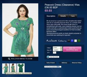 Goddiva Green Peacock Dress
