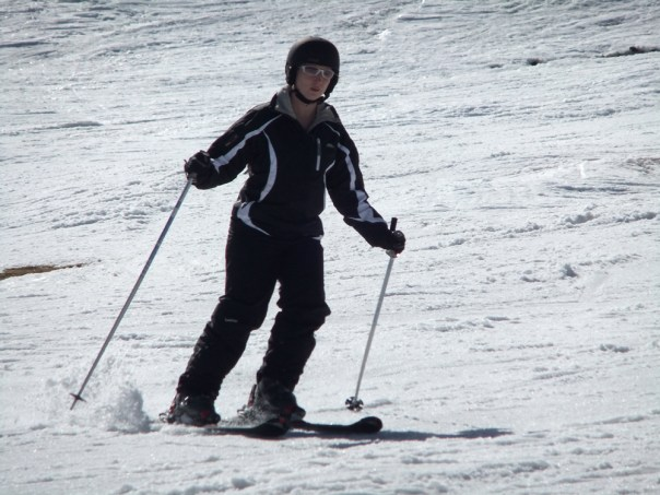 Me skiing (very seriously) in Arinsal, Andorra