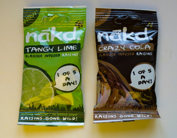 Nakd Tangy Lime and Crazy Cola Infused Raisins