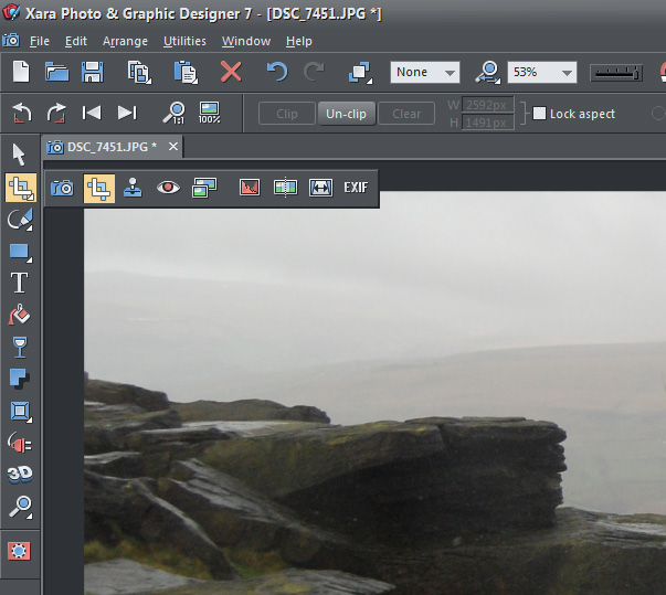 Xara Photo and Graphic Designer Screenshot