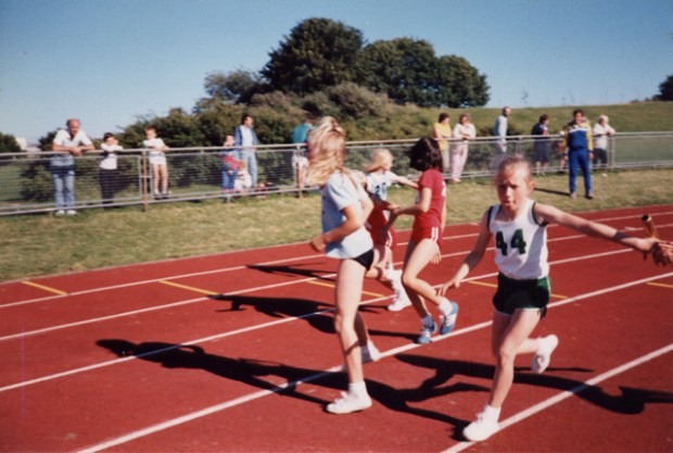 Me in the 4x100m relay at Brickfields, Plymouth
