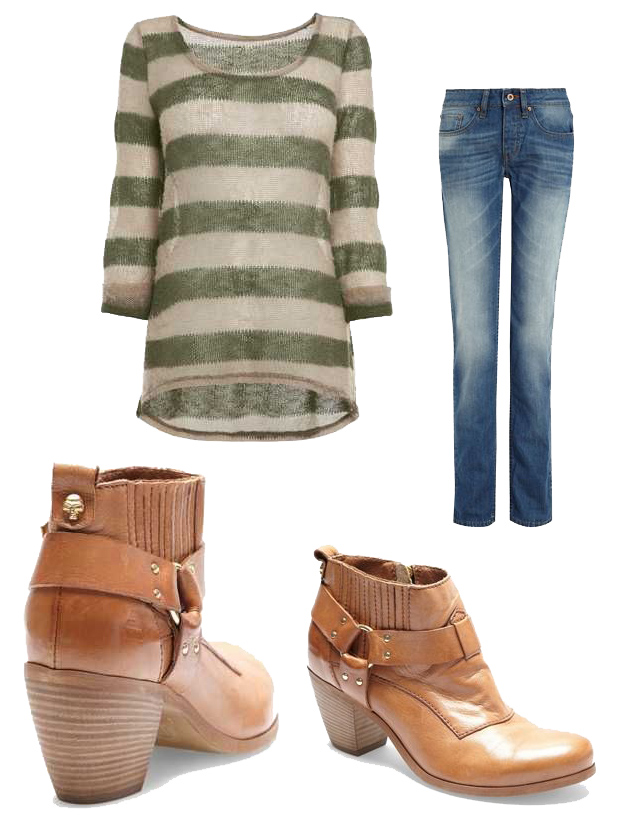 Tan Chelsea Western Ankle Boots