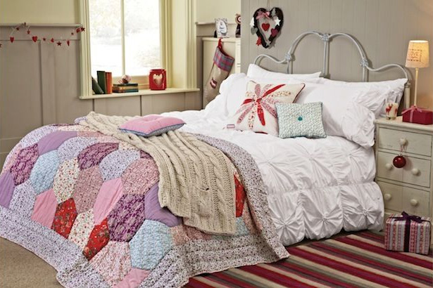 White Ruched Bed Set from Next