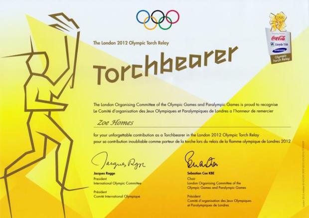 Torchbearer Certificate