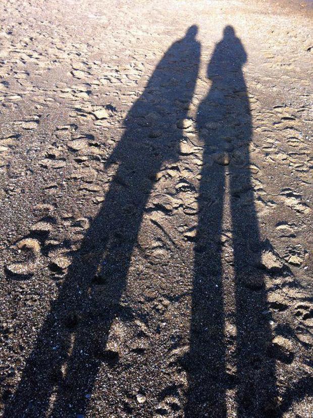 Shadows on Skegness Beach