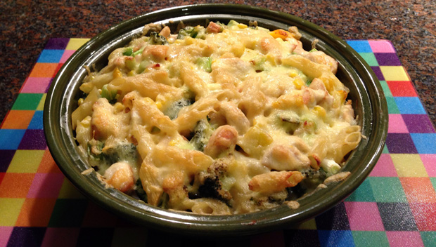 Yellow and Green Pasta Bake - Campbell's Capsule Cupboard Challenge