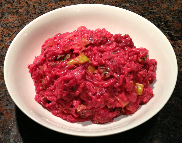 Leek and Beetroot Risotto