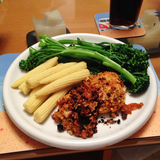 Crusted Cod Dinner - Just 5 Pro Points