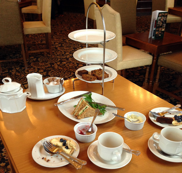 Afternoon Tea All Gone at Stoke Rochford Hall