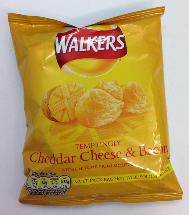 Walkers Home Grown Crisps - Cheddar Cheese and Bacon