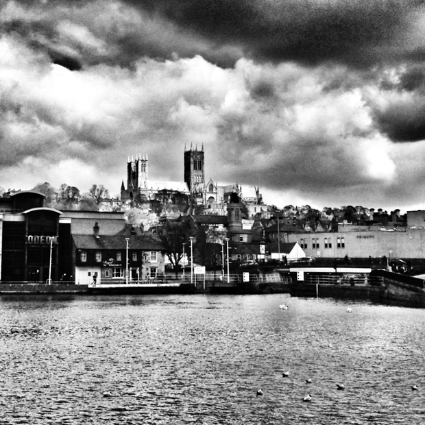 Brayford Pool and Lincoln Cathedral, March 2013