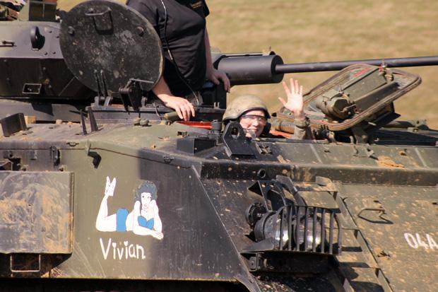 Tank Driving Experience at Armourgeddon - Me Driving
