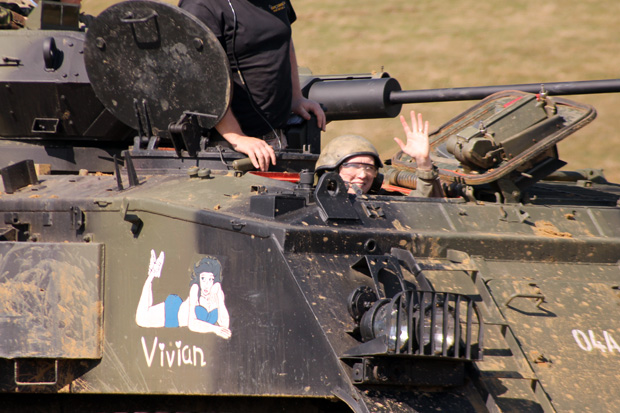 Tank Driving Experience at Armourgeddon - Me Driving