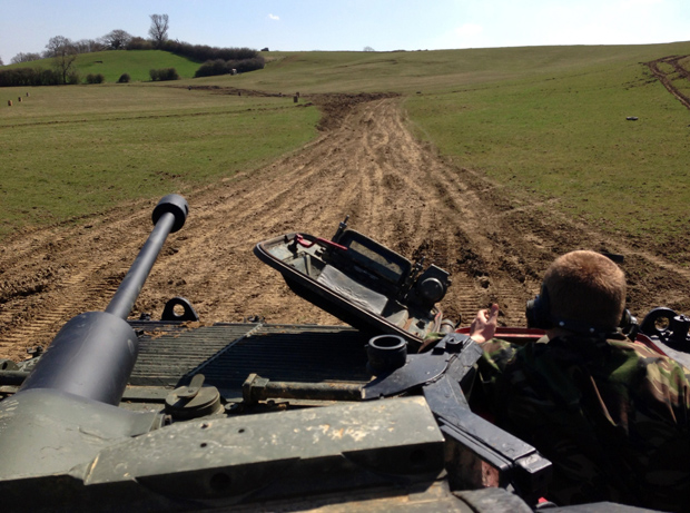 Tank Driving Experience at Armourgeddon - View from Gun Turret