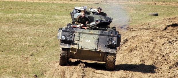 Driving a Tank!