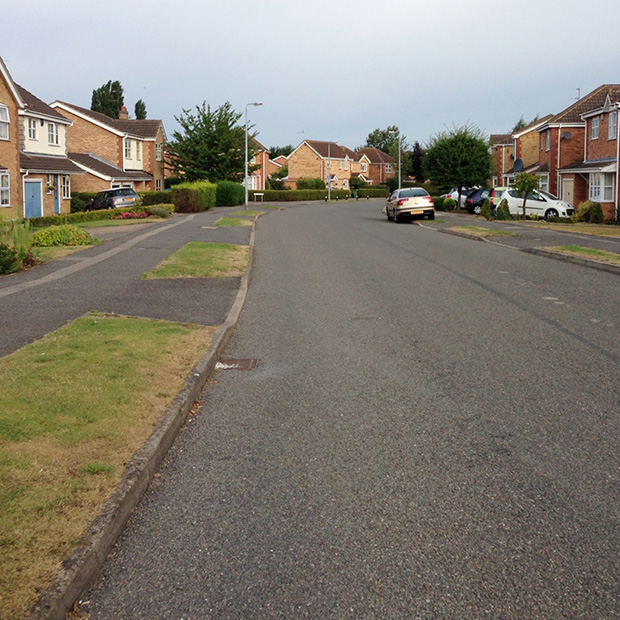 My Cycle Ride to Work - Quiet Residential Street