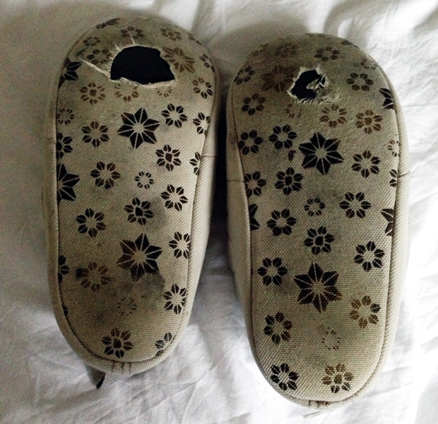Sunday Soliloquy – New Slippers
