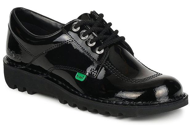 Kickers Kick Lo in Patent Black