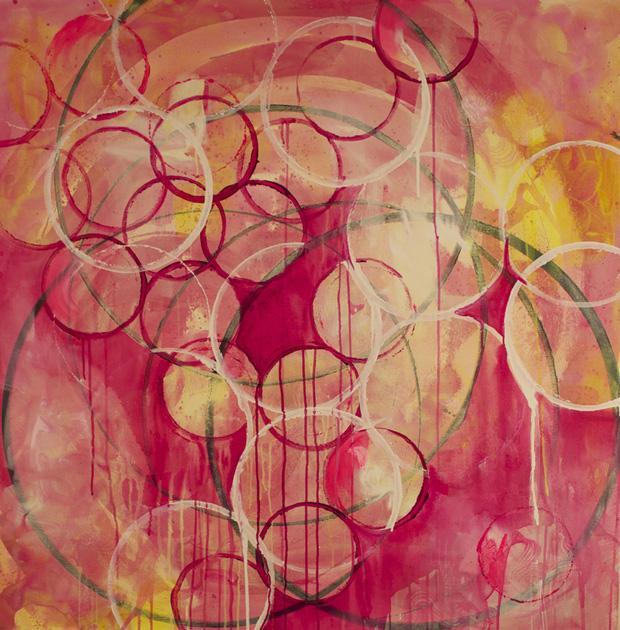 Sunburst by Linda Colletta   Acrylic on Canvas @Linda Colletta